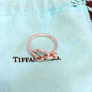 Tiffany and Co Sterling and 18kt Ring
